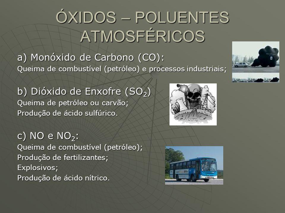 ÓXIDOS – POLUENTES ATMOSFÉRICOS