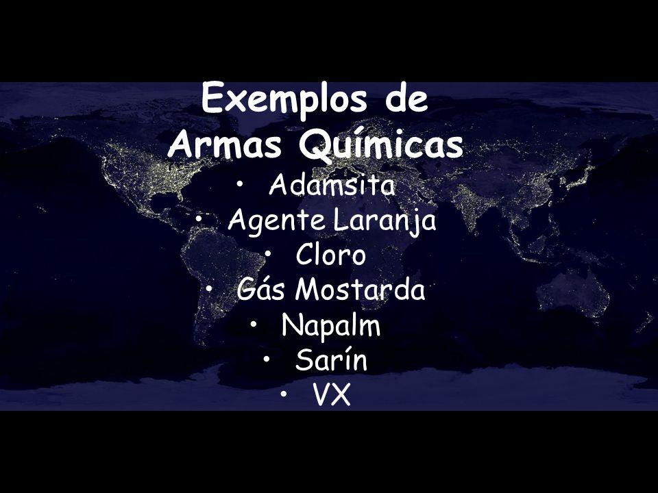 Exemplos de Armas Químicas