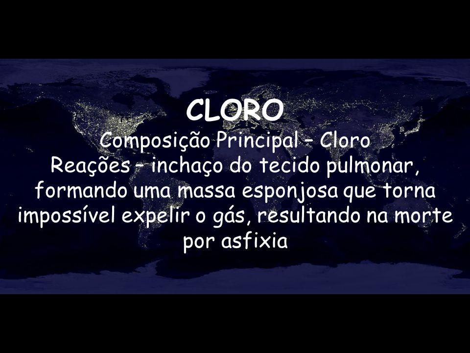 Composição Principal – Cloro
