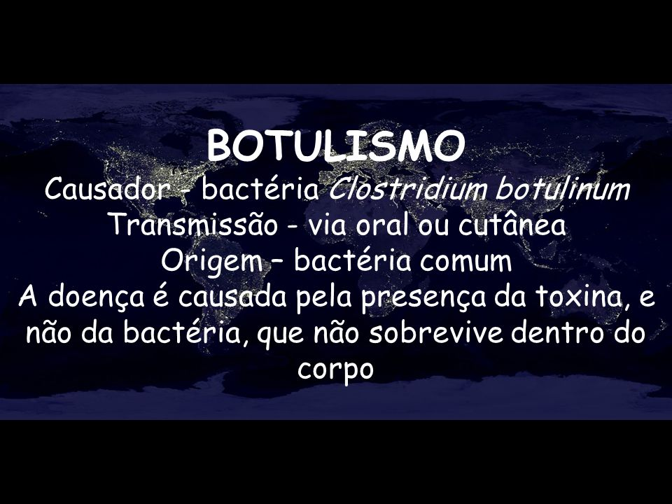 Origem – bactéria comum