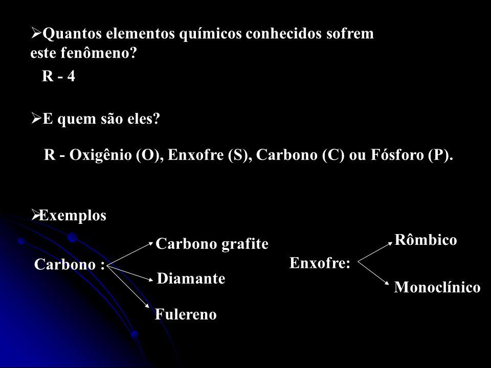 Quantos elementos químicos conhecidos sofrem
