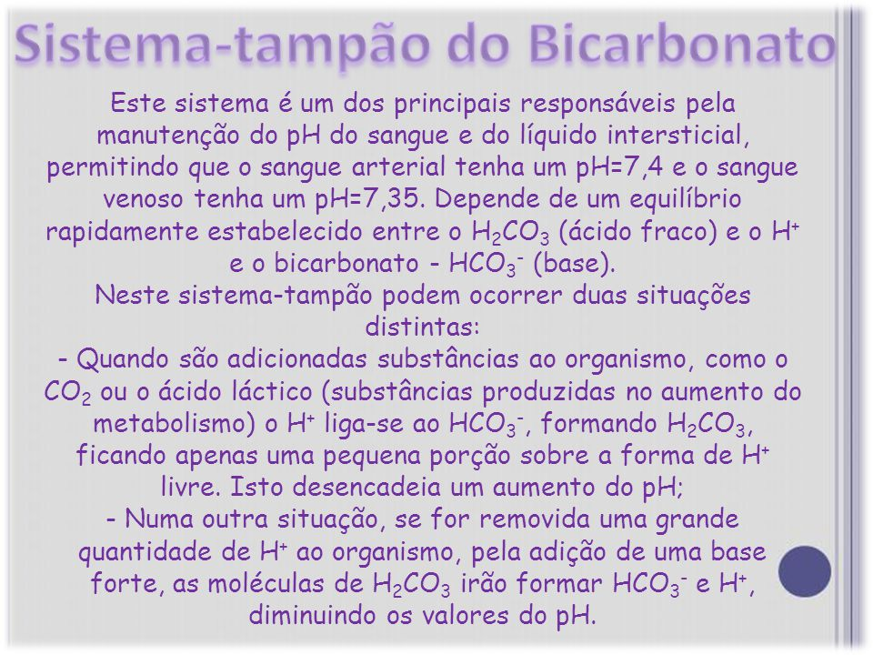 Sistema-tampão do Bicarbonato