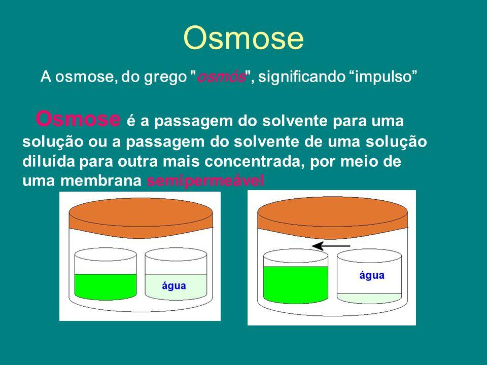 Osmose A osmose, do grego osmós , significando impulso