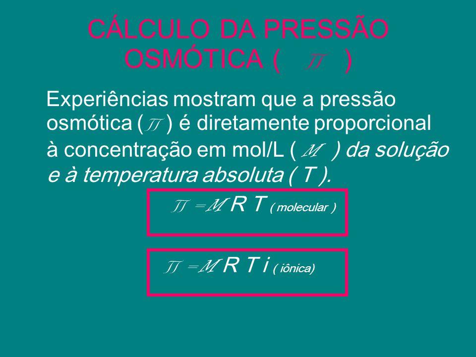 CÁLCULO DA PRESSÃO OSMÓTICA ( ∏ )