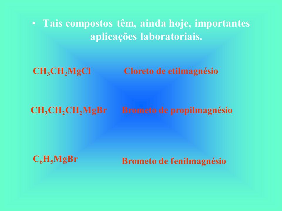 Tais compostos têm, ainda hoje, importantes aplicações laboratoriais.