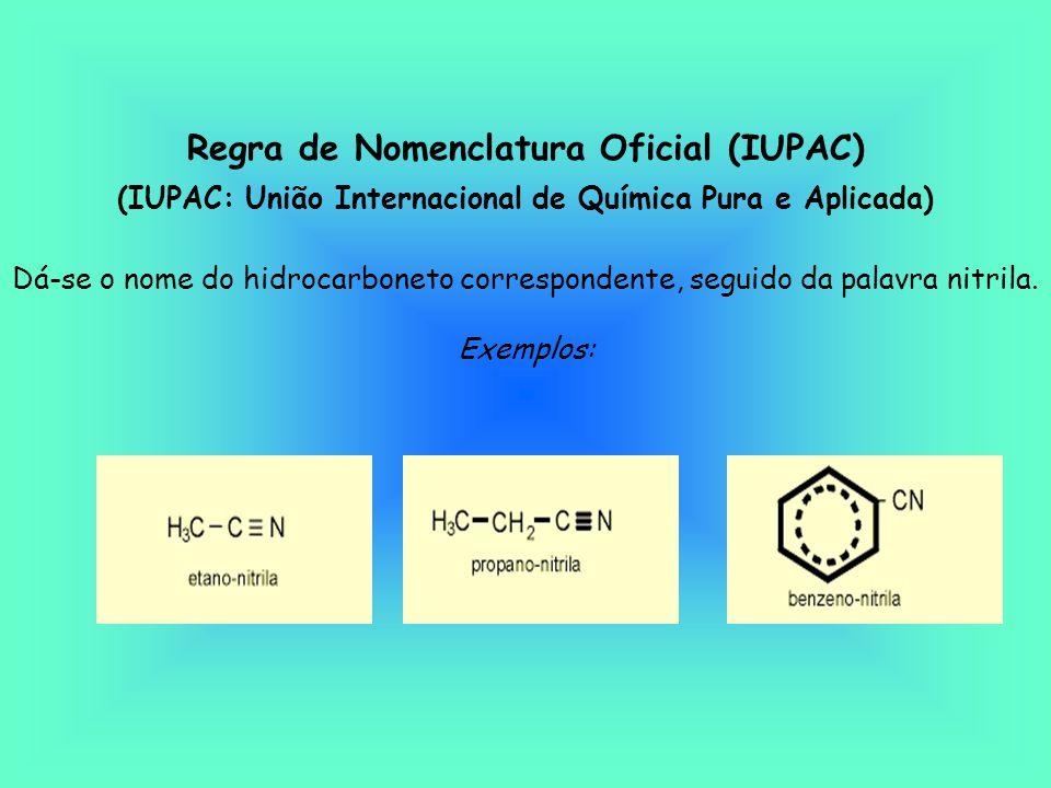 Regra de Nomenclatura Oficial (IUPAC)