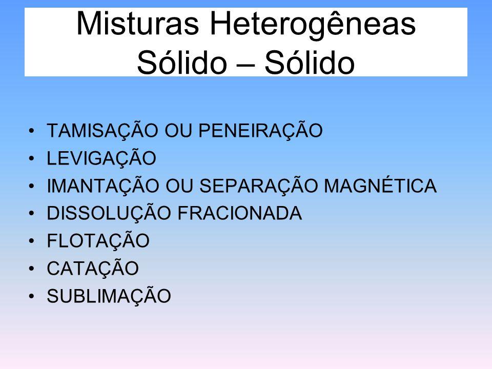 Misturas Heterogêneas Sólido – Sólido
