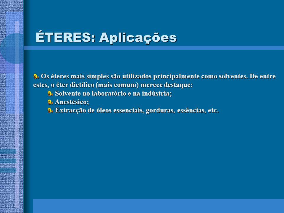ÉTERES: Aplicações