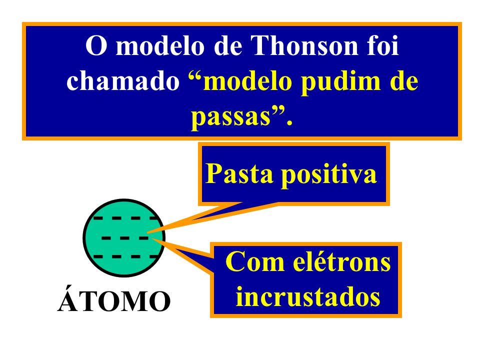 O modelo de Thonson foi chamado modelo pudim de passas .