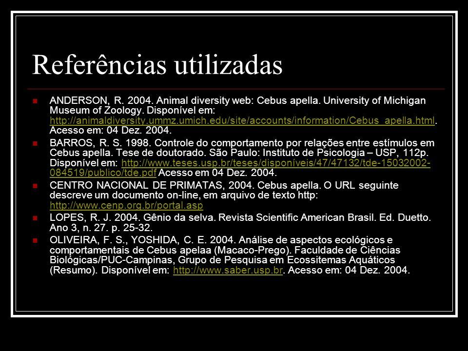 Referências utilizadas