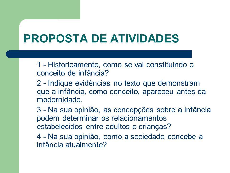 PROPOSTA DE ATIVIDADES