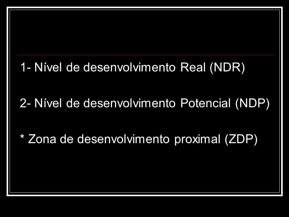 1- Nível de desenvolvimento Real (NDR)