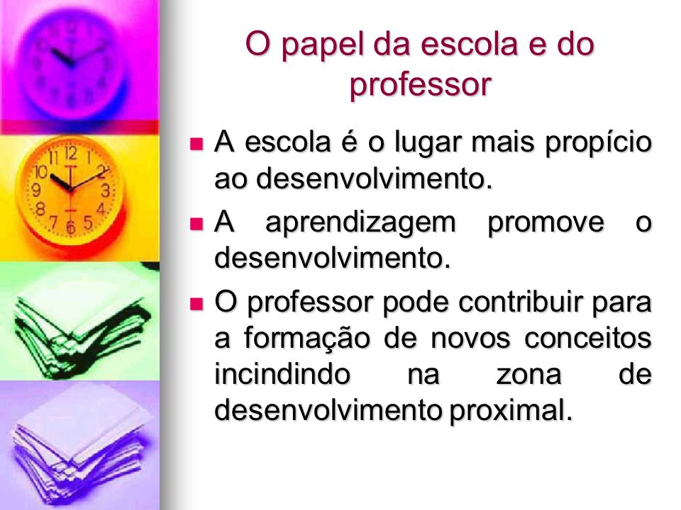 O papel da escola e do professor
