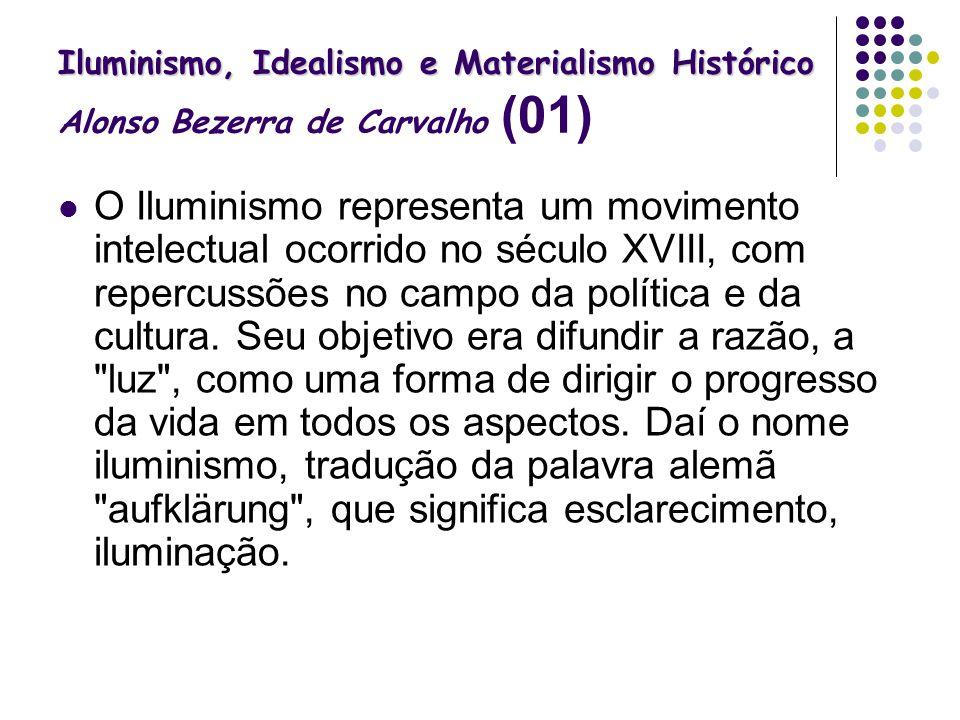 Iluminismo, Idealismo e Materialismo Histórico Alonso Bezerra de Carvalho (01)