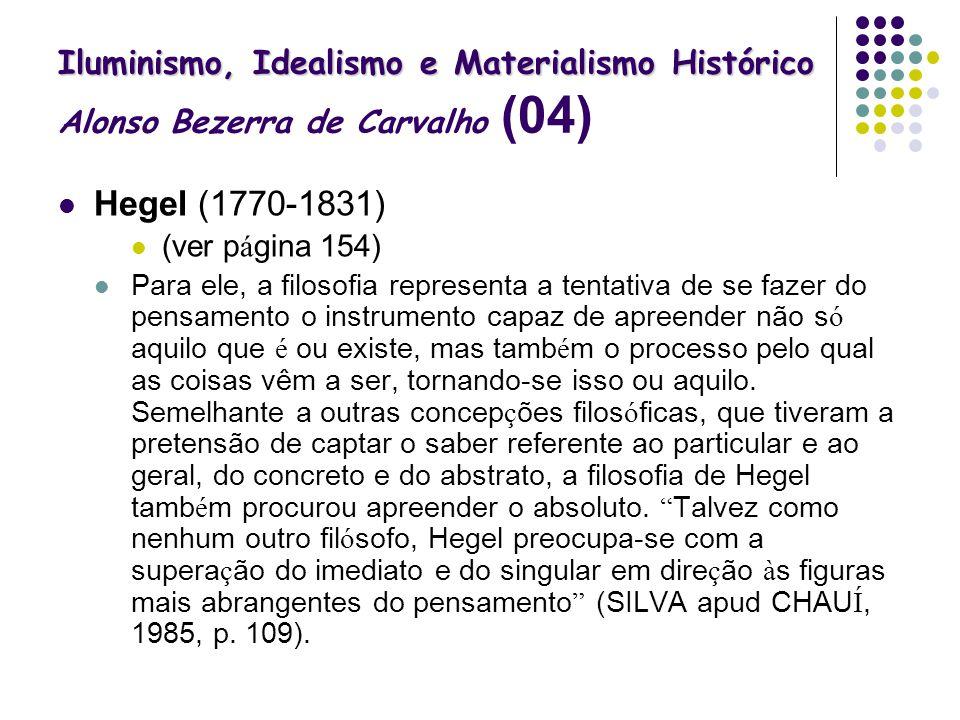 Iluminismo, Idealismo e Materialismo Histórico Alonso Bezerra de Carvalho (04)