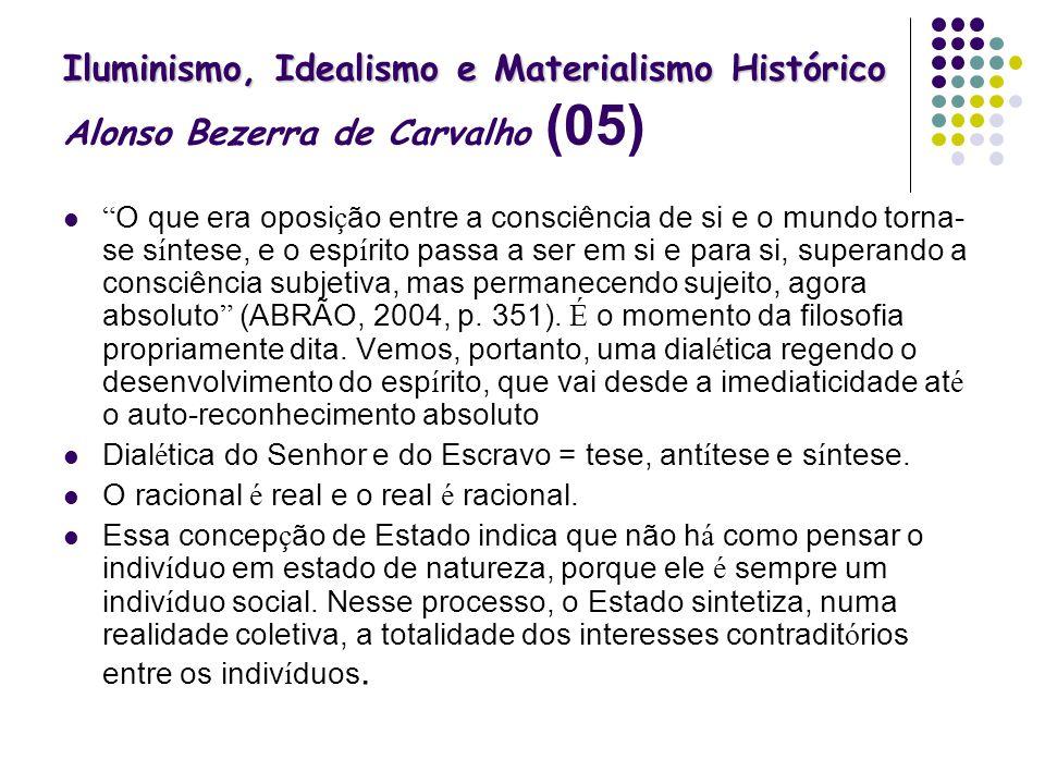 Iluminismo, Idealismo e Materialismo Histórico Alonso Bezerra de Carvalho (05)