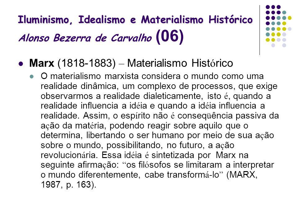 Marx (1818-1883) – Materialismo Histórico