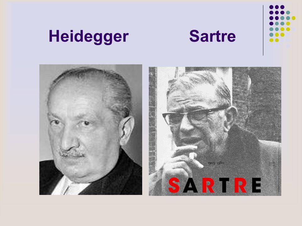 Heidegger Sartre