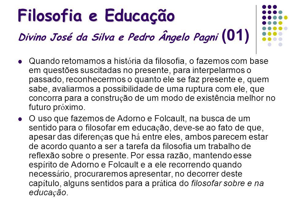 Filosofia e Educação Divino José da Silva e Pedro Ângelo Pagni (01)