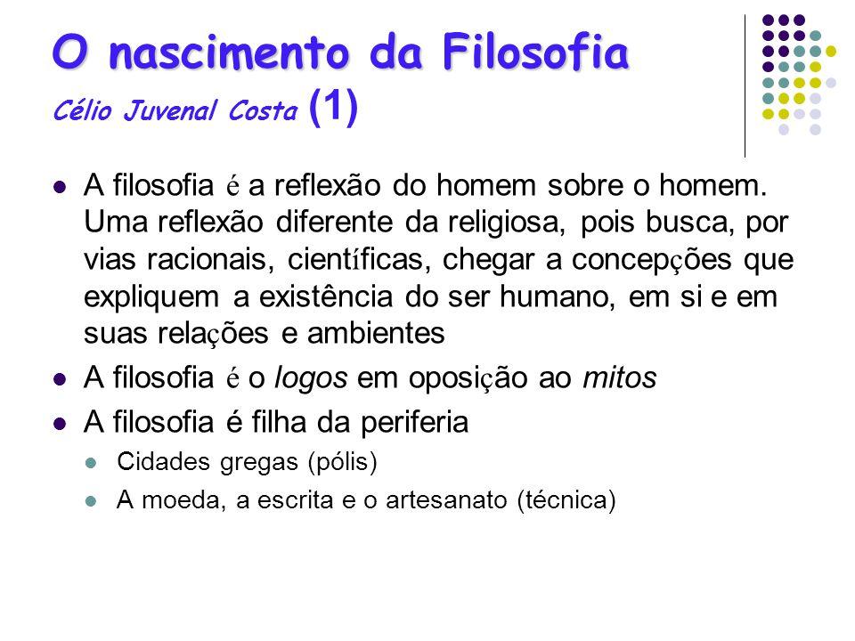 O nascimento da Filosofia Célio Juvenal Costa (1)