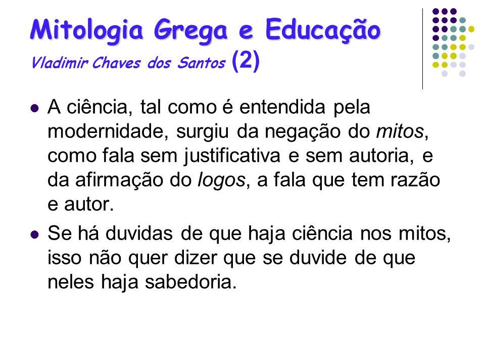 Mitologia Grega e Educação Vladimir Chaves dos Santos (2)