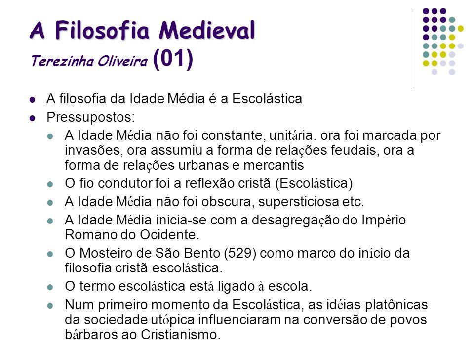 A Filosofia Medieval Terezinha Oliveira (01)