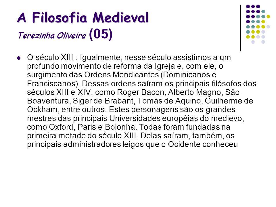 A Filosofia Medieval Terezinha Oliveira (05)