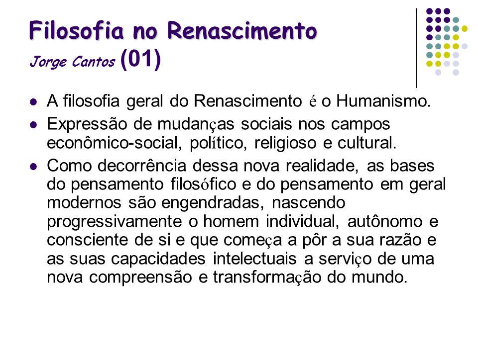 Filosofia no Renascimento Jorge Cantos (01)