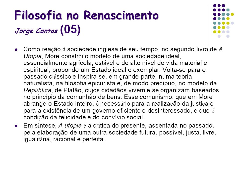 Filosofia no Renascimento Jorge Cantos (05)