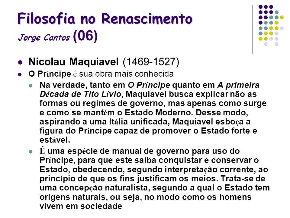 Filosofia no Renascimento Jorge Cantos (06)