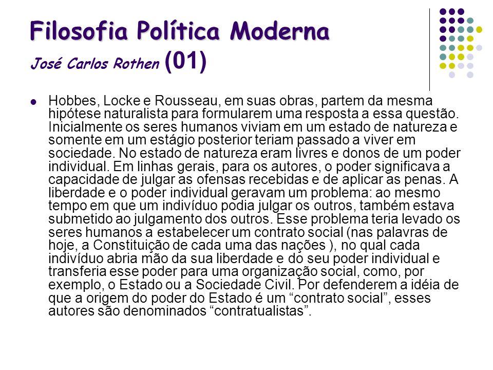 Filosofia Política Moderna José Carlos Rothen (01)