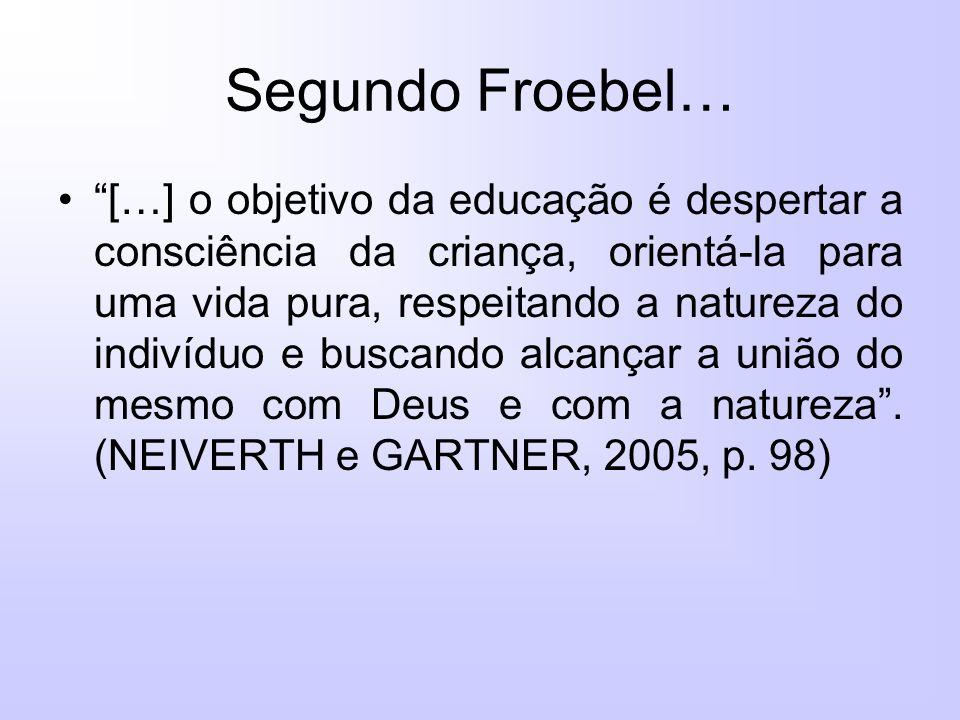 Segundo Froebel…