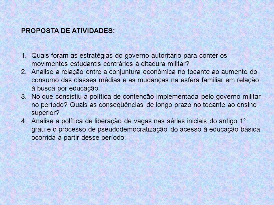 PROPOSTA DE ATIVIDADES: