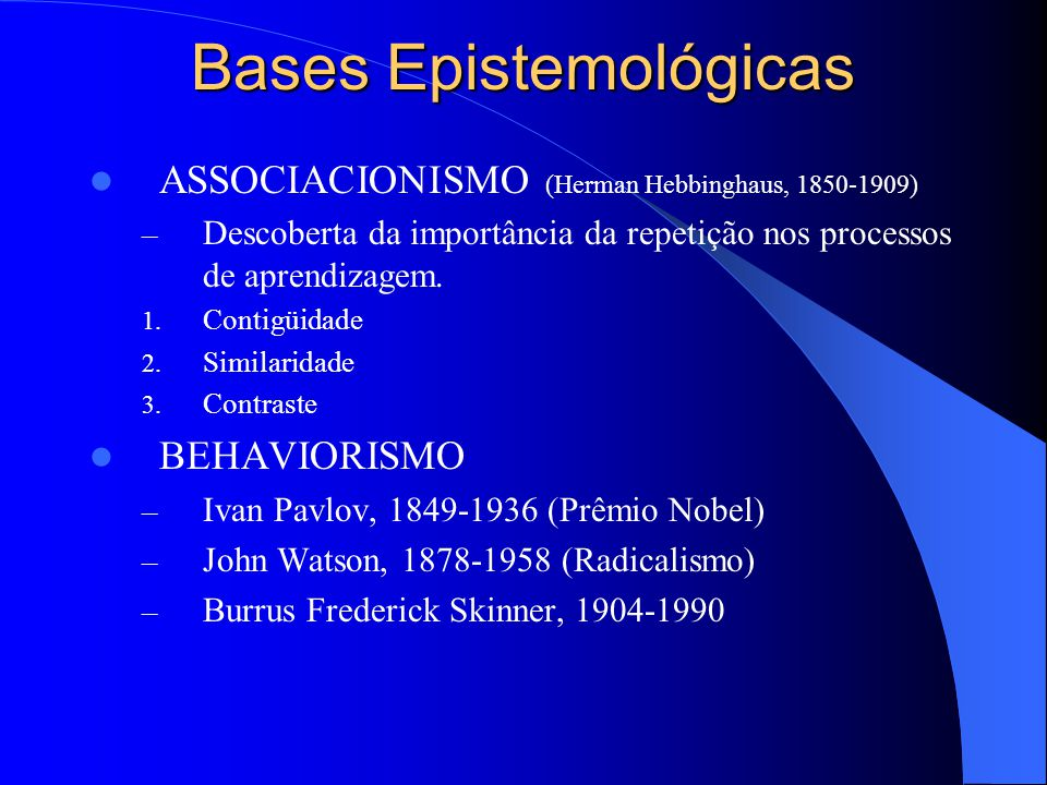 Bases Epistemológicas