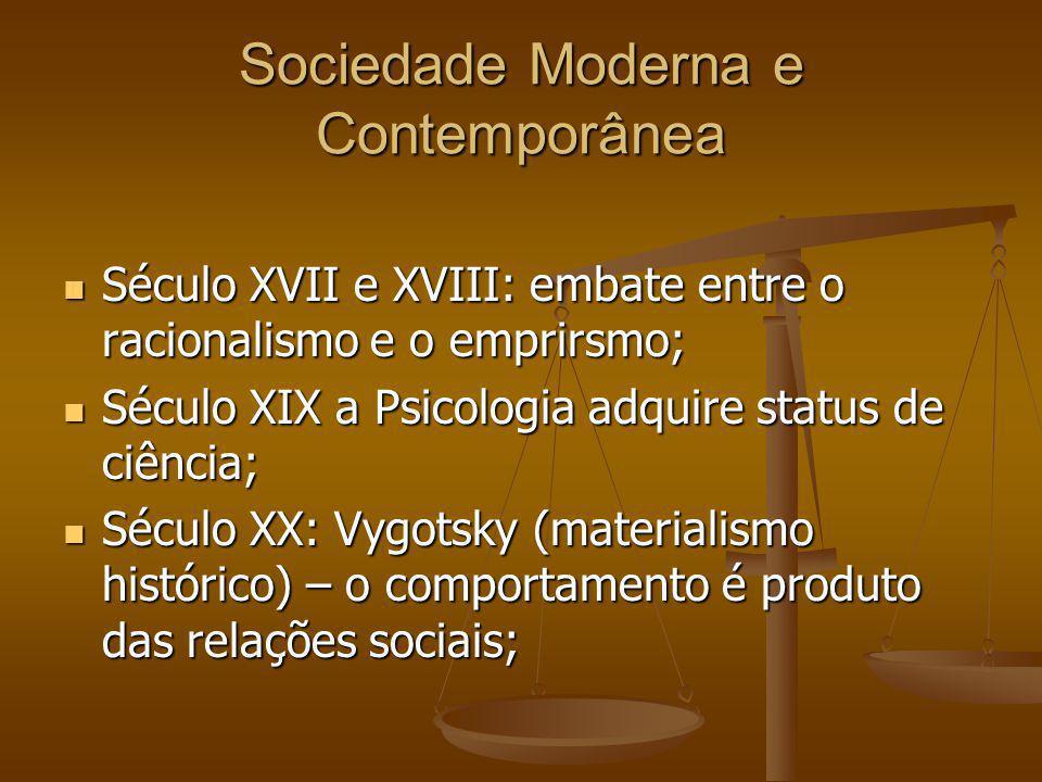 Sociedade Moderna e Contemporânea