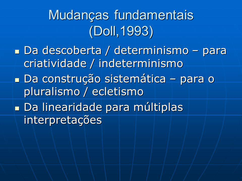 Mudanças fundamentais (Doll,1993)