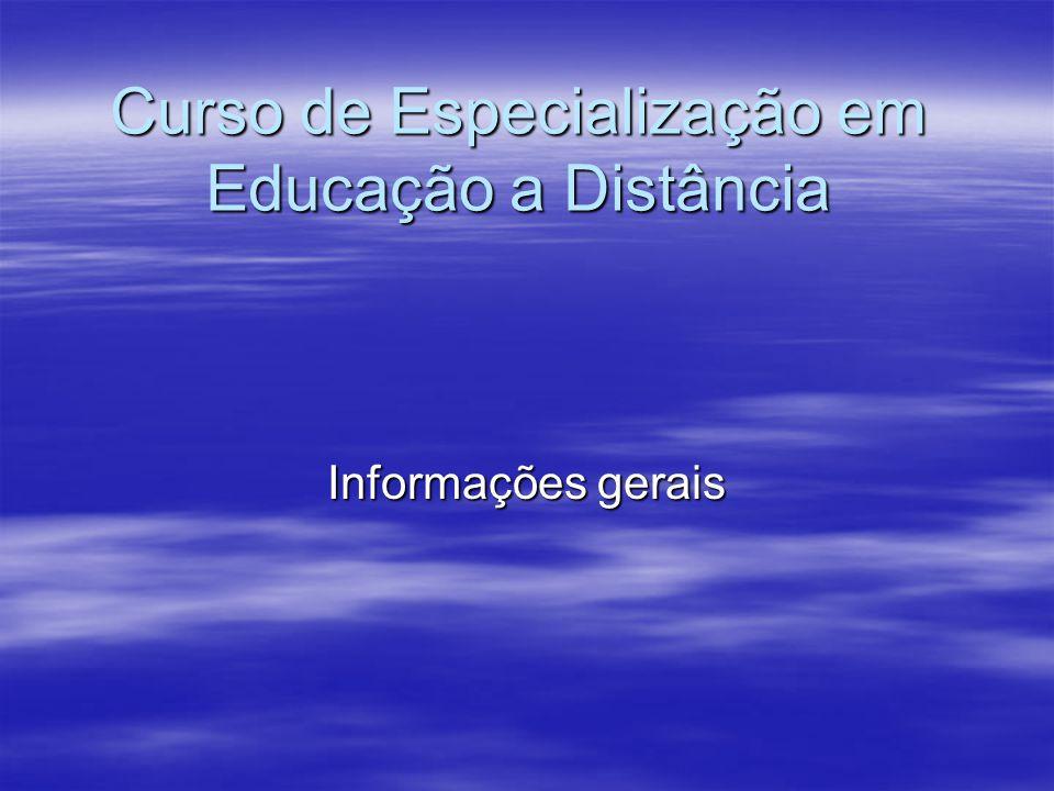 Curso de Especialização em Educação a Distância