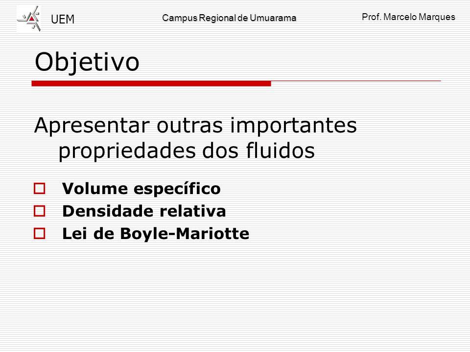 Objetivo Apresentar outras importantes propriedades dos fluidos