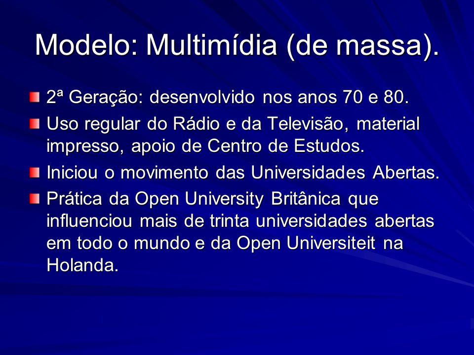 Modelo: Multimídia (de massa).