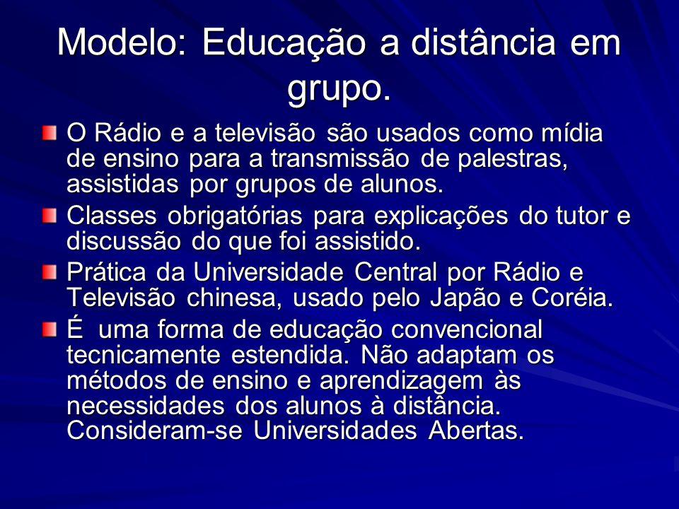 Modelo: Educação a distância em grupo.
