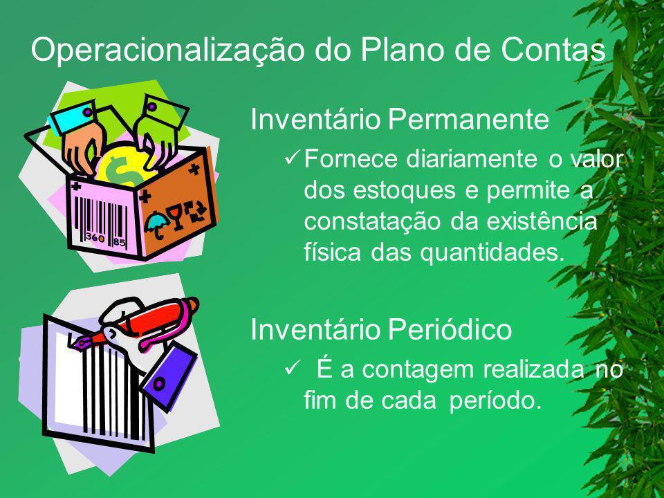 Operacionalização do Plano de Contas