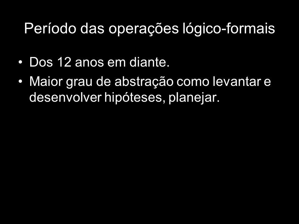 Período das operações lógico-formais