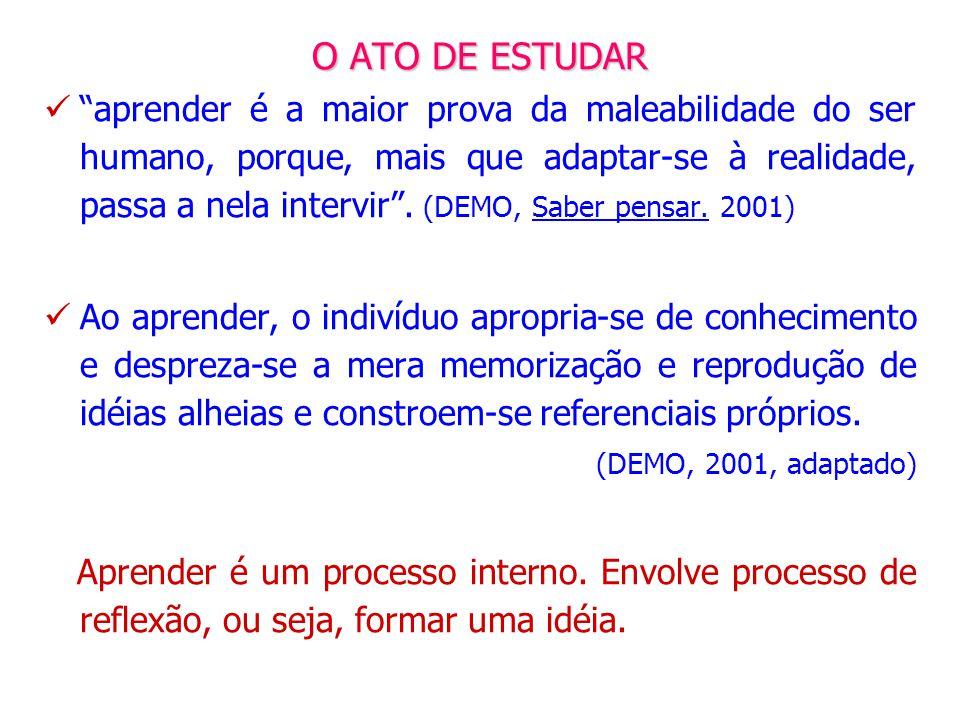 O ATO DE ESTUDAR