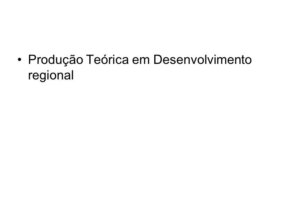 Produção Teórica em Desenvolvimento regional