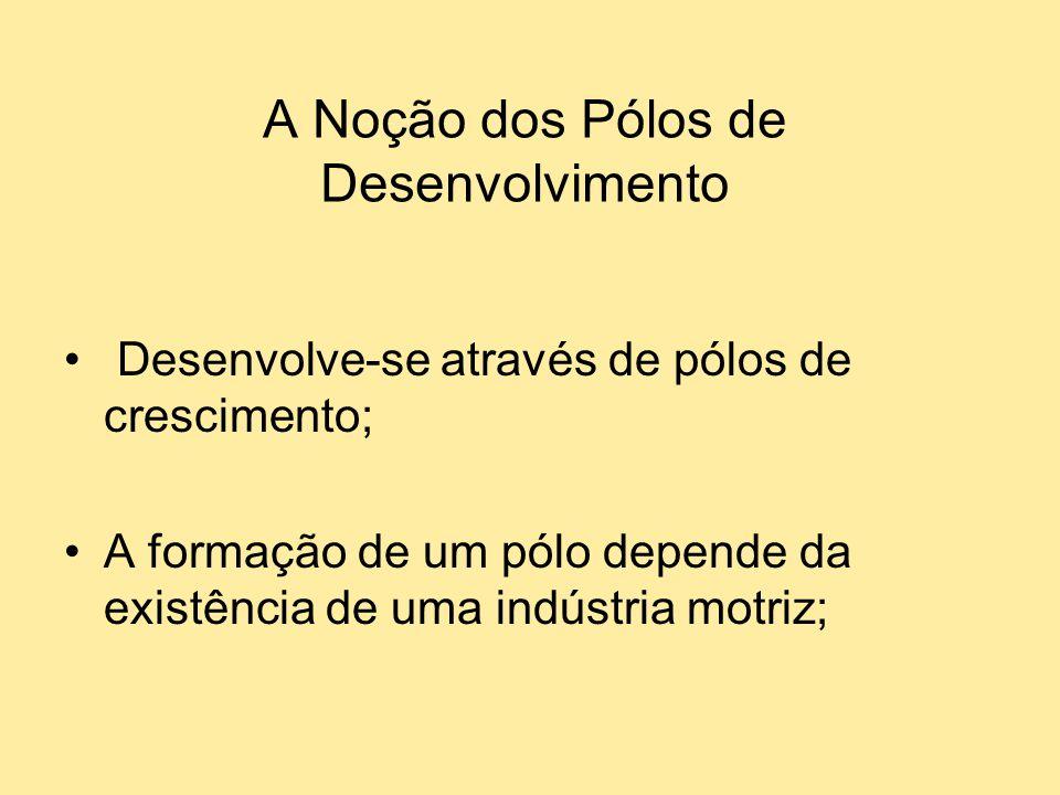 A Noção dos Pólos de Desenvolvimento