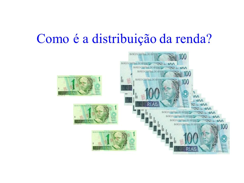 Como é a distribuição da renda