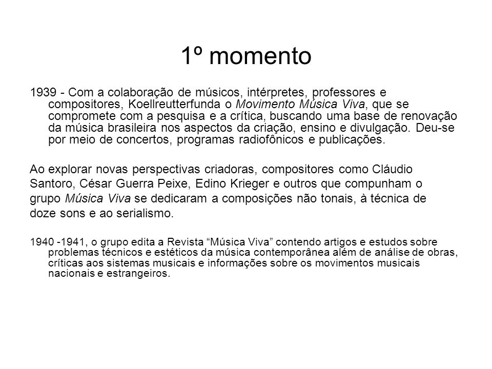 1º momento