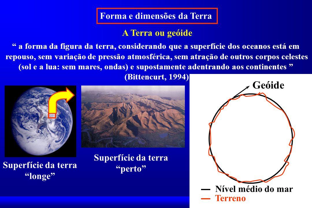 Geóide Forma e dimensões da Terra A Terra ou geóide