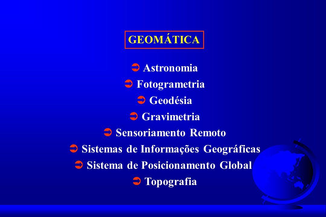  Sensoriamento Remoto  Sistemas de Informações Geográficas