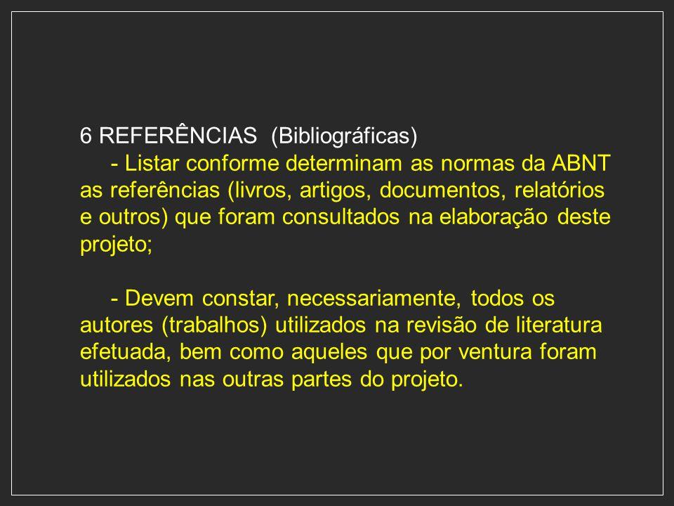 6 REFERÊNCIAS (Bibliográficas)